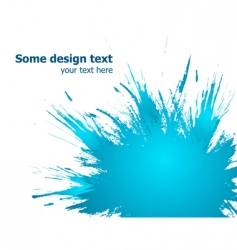blue paint splashes background illustration vector image vector image