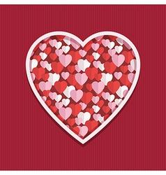 valentine hearts decoration vector image