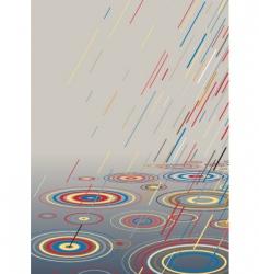 color rain vector image vector image