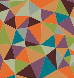 Colorful vintage triangle vector image vector image