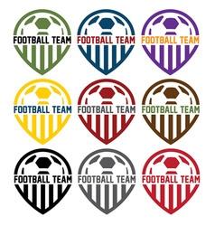 football team labels set vector image vector image