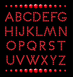 letters ruby crystal alphabet vector image