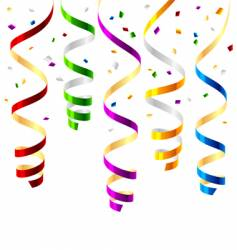 party streamers vector image vector image