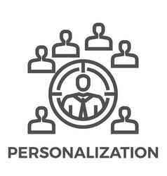 personalization line icon vector image