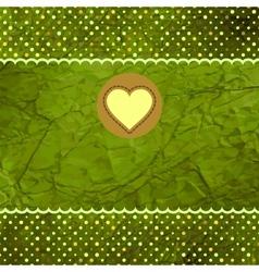 Vintage Hearts Valentines Card vector image