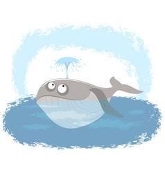 whale in ocean vector image vector image