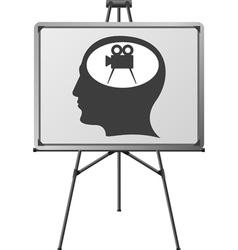 cinema brain of a man vector image