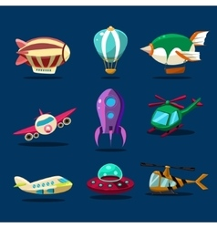 Different kind of planes vector image