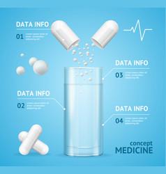 Medicine concept card or poster vector