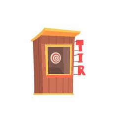 shooting gallery booth tir cartoon vector image