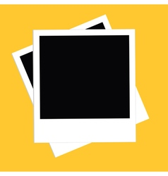 Two instant photo set Flat design style Yellow vector image vector image