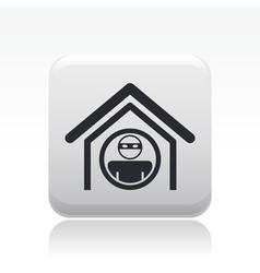 home thief icon vector image vector image