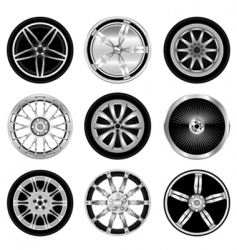 sporty aluminum wheel vector image