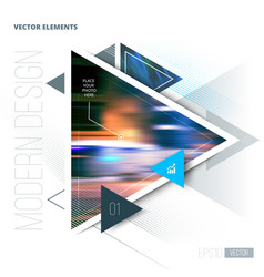 Abstract geometric triangle pattern and vector