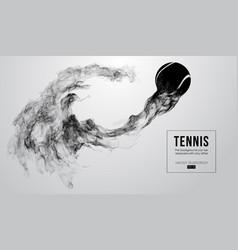 Abstract silhouette a tennis ball vector