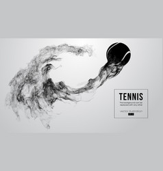 Abstract silhouette of a tennis ball vector