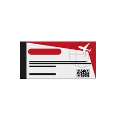 Airplane boarding pass icon vector