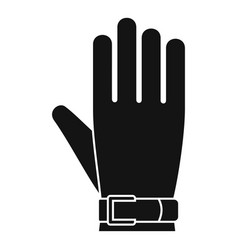 american football glove icon simple style vector image