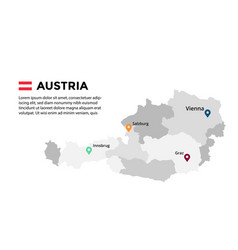 austria map infographic template slide vector image