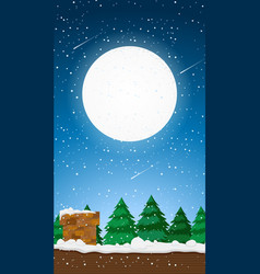 Background scene with fullmoon in sky vector