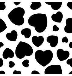 black and white heart seamless vector image