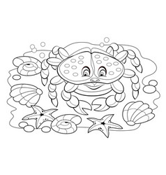 black and white page for baby coloring book vector image