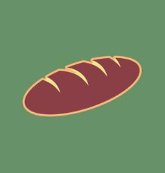 Bread sign cordovan icon and mellow vector