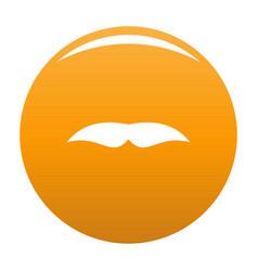 Broad mustache icon orange vector