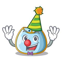 Clown baby bib isolated on the mascot vector