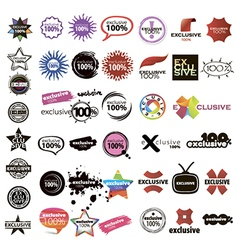 collection of logos signs pointers vector image