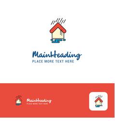 creative raining logo design flat color logo vector image
