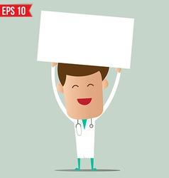 Doctor showing a report - - EPS10 vector image