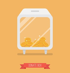 Donate box flat icon vector image