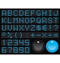 dot-matrix font vector image