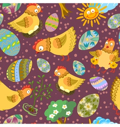 easter seamless vector image