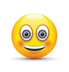 emoji smiling grey eyes vector image