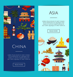 flat china elements and sights vector image