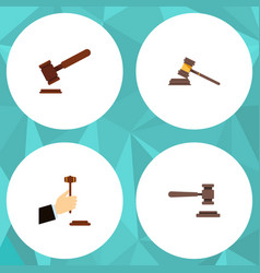 flat icon lawyer set of legal law justice and vector image