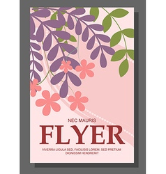 Flyers with abstract leaves and flowers on a vector image