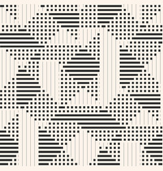 geometric pattern background with lines stripes vector image