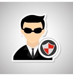 Hacker icon design vector