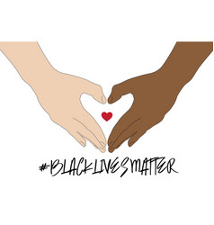 hand symbol for black lives matter protest in usa vector image