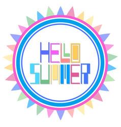 Hello summer cardt-shirt design vector