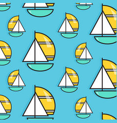 holiday voyage pattern summer water trip vector image