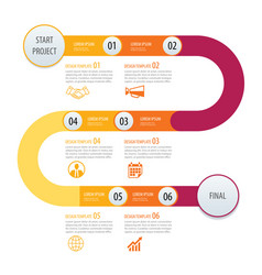 Infographic timeline template business concept vector