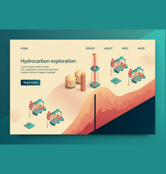 is written hydrocarbon exploration vector image