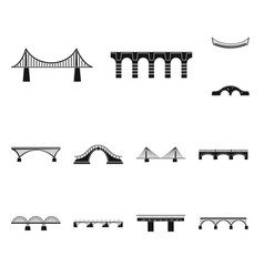 isolated object of construct and side icon vector image