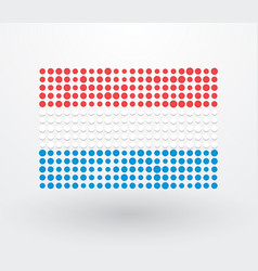 luxembourg flag made up of small dots vector image
