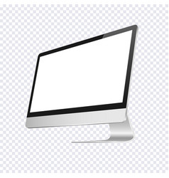 modern computer blank display isolated on vector image