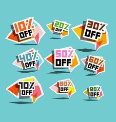 paper sale labels discount prices tags vector image